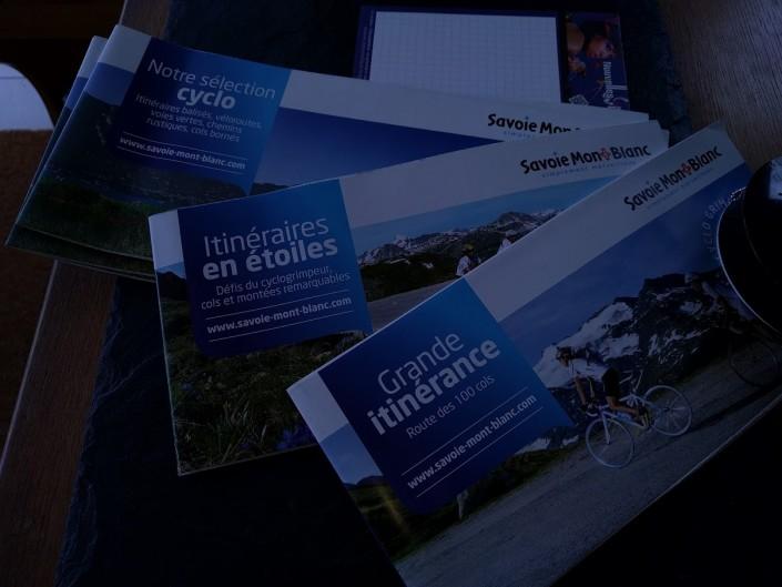 Carte des circuits à vélo Savoie et Haute-Savoie