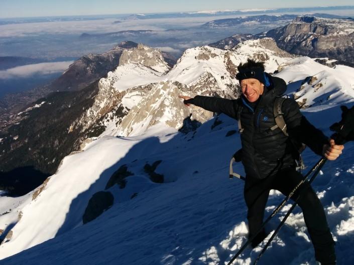 Rando en hiver au sommet de la Tournette (2350 m.)